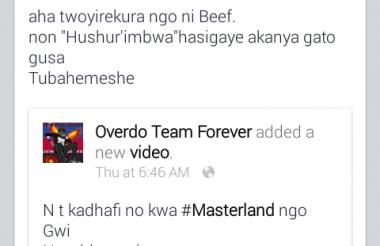 """Umviriza indirimbo nshasha """"Hushur'imbwa"""" ya NT (Overdo) ikorewe muri studio Master Muzik"""